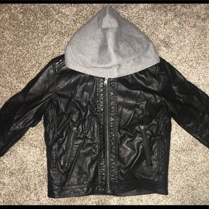 H&M boys Leather jacket with Sherpa lining. NWOT!